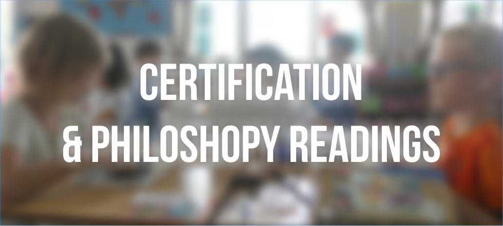 Certification & Philoshopy Readings