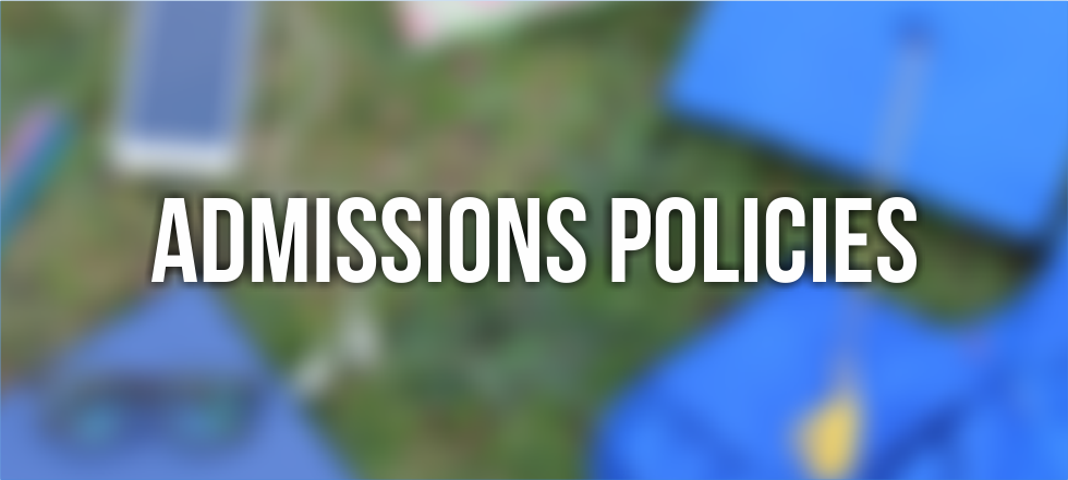Admissions Policies
